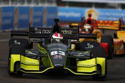 Charlie Kimball, Chip Ganassi Racing Honda, Ryan Hunter-Reay, Andretti Autosport Honda