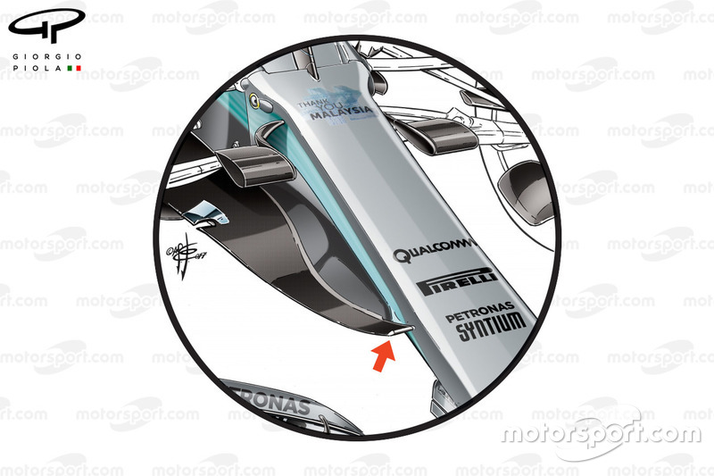 Mercedes W08 new nose, Malaysia GP