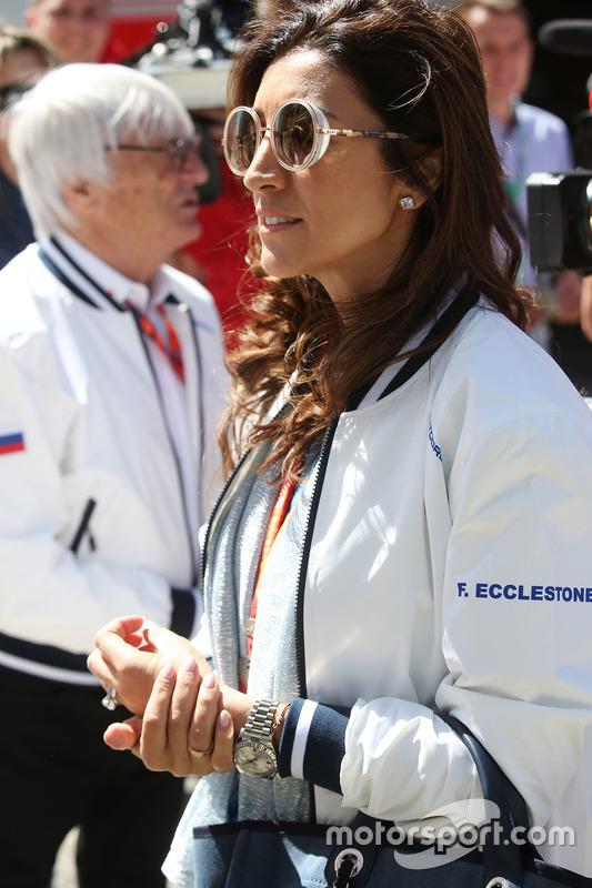 Fabian Flosi, wife of Bernie Ecclestone, Chairman Emeritus of Formula 1