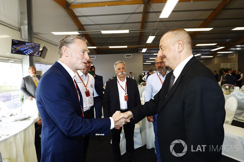 Sean Bratches, Formel-1-Marketingchef; Ilham Aliyev, Staatspräsident Aserbaidschan