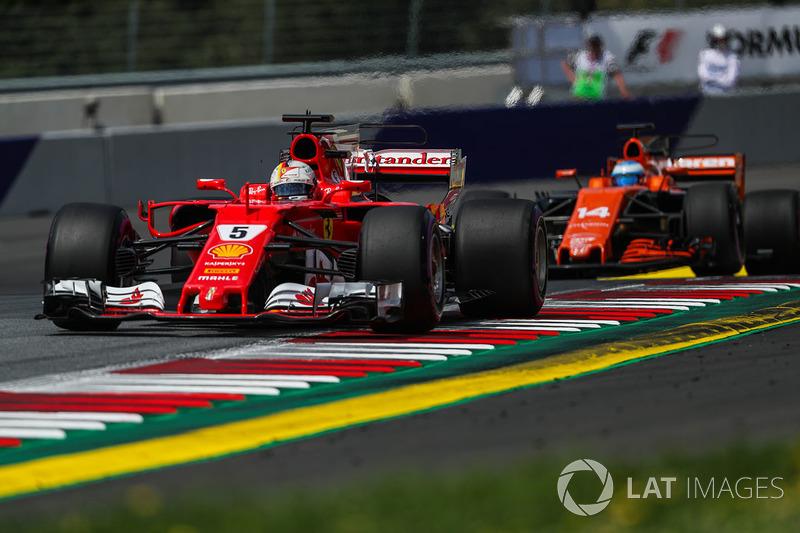 Себастьян Феттель, Ferrari SF70H, Фернандо Алонсо, McLaren MCL32