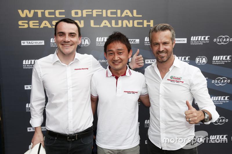 Norbert Michelisz, Ryo Michigami, Tiago Monteiro, Honda Racing Team JAS, Honda Civic WTCC