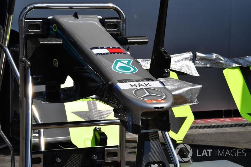 Mercedes-AMG F1 W09 EQ Power+ burun detayı