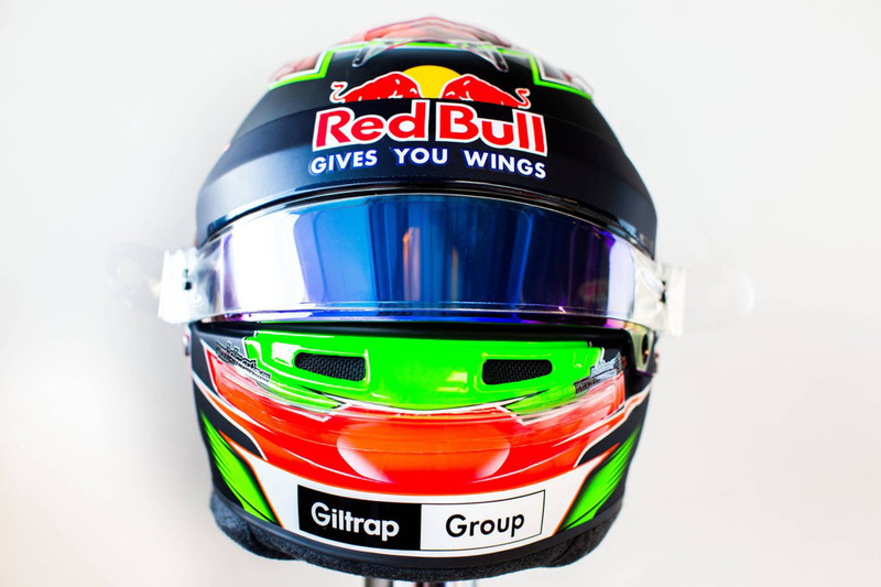 El casco de Brendon Hartley, Scuderia Toro Rosso