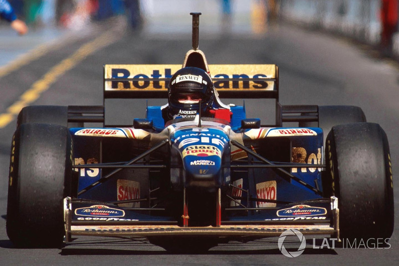 Le vainqueur Damon Hill, Williams FW18