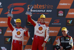 Podium : race winner Scott McLaughlin, Team Penske Ford, second place Fabian Coulthard, Team Penske Ford