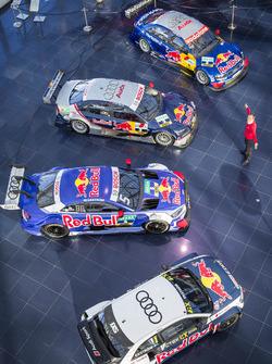Mattias Ekström mit seinen DTM Fahrzeugen und dem EKS Audi S1 quattro WRX