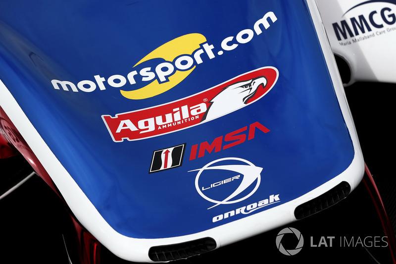 Car detail of #32 United Autosports Ligier LMP2: Will Owen, Hugo de Sadeleer, Paul Di Resta, Bruno Senna