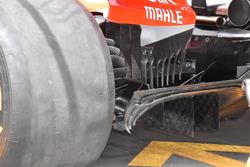 Détails du diffuseur de la Ferrari SF71H