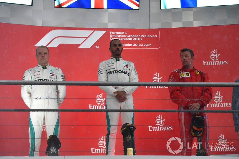 Podium: 1. Lewis Hamilton, 2. Valtteri Bottas, 3. Kimi Raikkonen