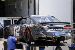 Coche dañado de Ryan Blaney, Team Penske Ford