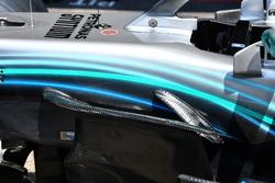 Mercedes-AMG F1 W09, dettaglio aerodinamico