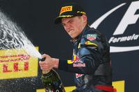 Podium: winnaar Max Verstappen, Red Bull Racing