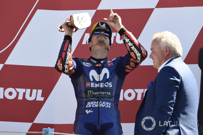 Podium : Maverick Viñales, Yamaha Factory Racing