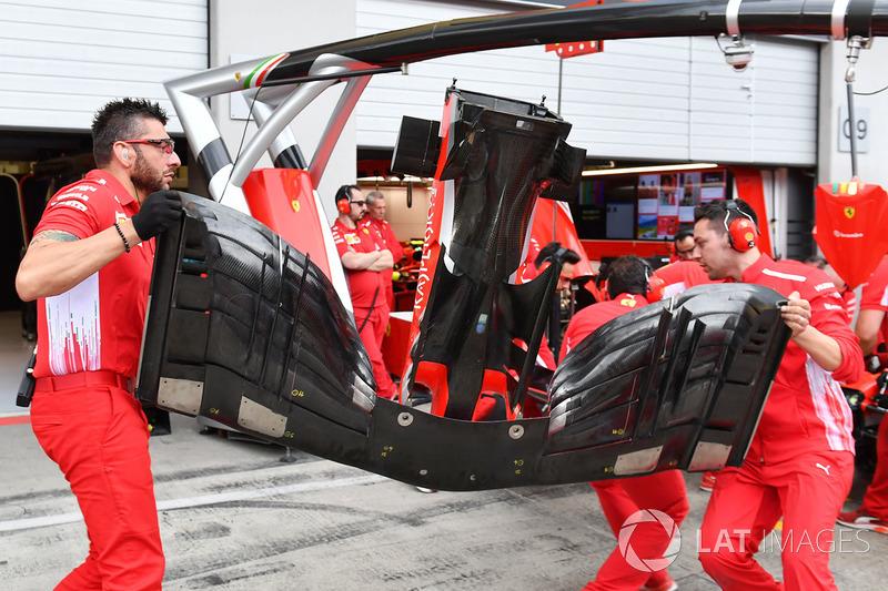 Ferrari SF71H voorvleugel