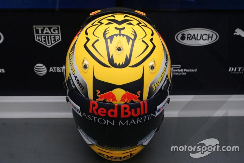 Helm spesial Max Verstappen, Red Bull Racing