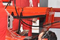 Rear wing detail of the car of Sebastian Vettel, Ferrari SF71H