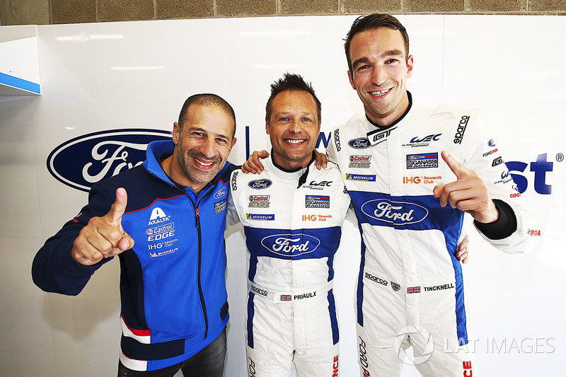 GTE pole sitters #67 Ford Chip Ganassi Racing Ford GT: Andy Priaulx, Harry Tincknell, Tony Kanaan