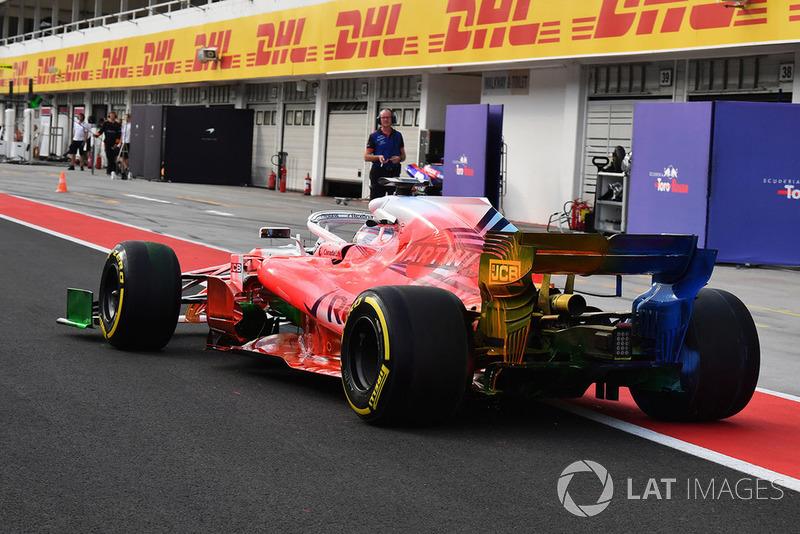Robert Kubica, Williams FW41, con parafina en su coche