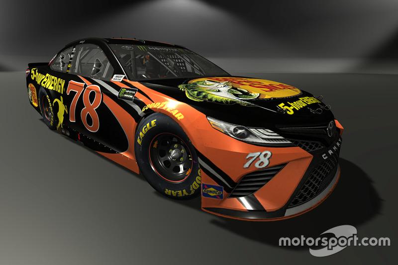 Martin Truex Jr., Furniture Row Racing, Toyota Camry - NASCAR Heat 3 skin