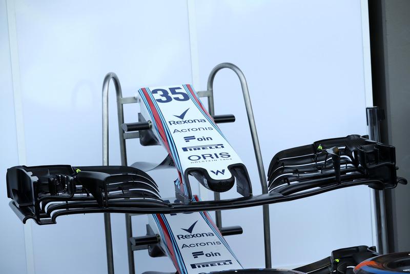 Williams FW41, ala anteriore