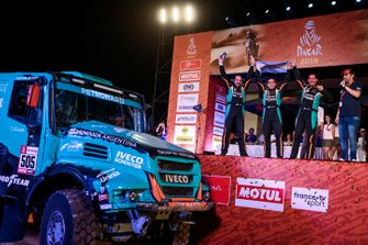 Podium: Petronas Team De Rooy Iveco: Federico Villagra, Adrian Arturo Yacopini, Ricardo Adrian Torlaschi