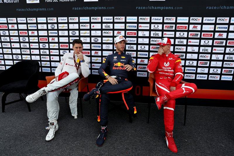 Loic Duval, Pierre Gasly y Mick Schumacher