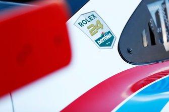 Le logo des 24H de Daytona sur une Porsche GT Team