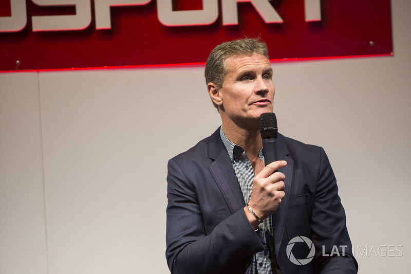 David Coulthard on the Autosport stage