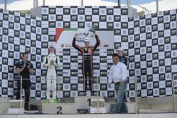 Podium : le vainqueur Charles Weerts, Dragon Motopark F4, le deuxième David Schumacher, Rasgaira Motorsports, le troisième Tom Beckhäuser, CRAM Motorsport
