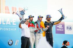 Jean-Eric Vergne, Techeetah, places 3rd, Lucas di Grassi, Audi Sport ABT Schaeffler, places 2nd, Dan