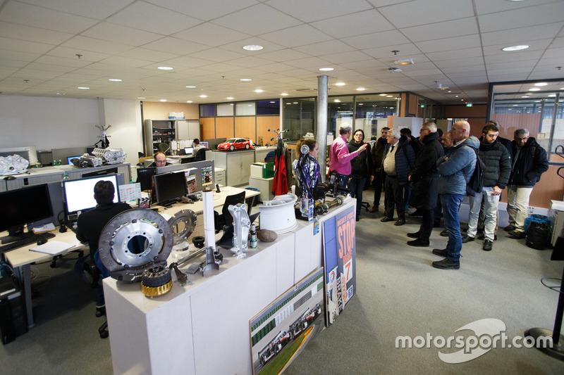 Il reparto di progettazione di Citroen Racing