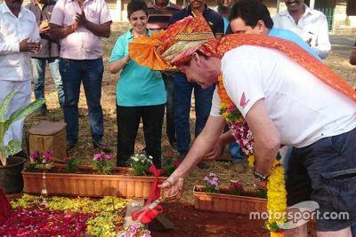Kamshet track foundation stone
