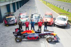 GT driver Ryan Millier, Rick Kelly, Nissan Motorsports, Garth Tander, Garry Rogers Motorsport and Fabian Coulthard, Team Penske, Porsche Carrera Cup Australia driver Nick McBride