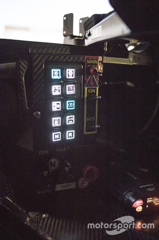 Dettagio del simulatore del Team Porsche