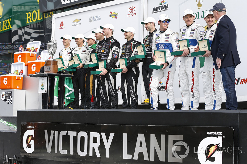 Overall Winners in P, GTLM, and GTD