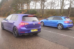 Volkswagen Golf and Audi RS3