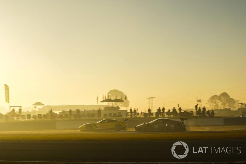 #4 Corvette Racing Chevrolet Corvette C7.R, GTLM: Oliver Gavin, Tommy Milner, Marcel Fassler, #86 Michael Shank Racing with Curb-Agajanian Acura NSX, GTD: Katherine Legge, Alvaro Parente, Trent Hindman