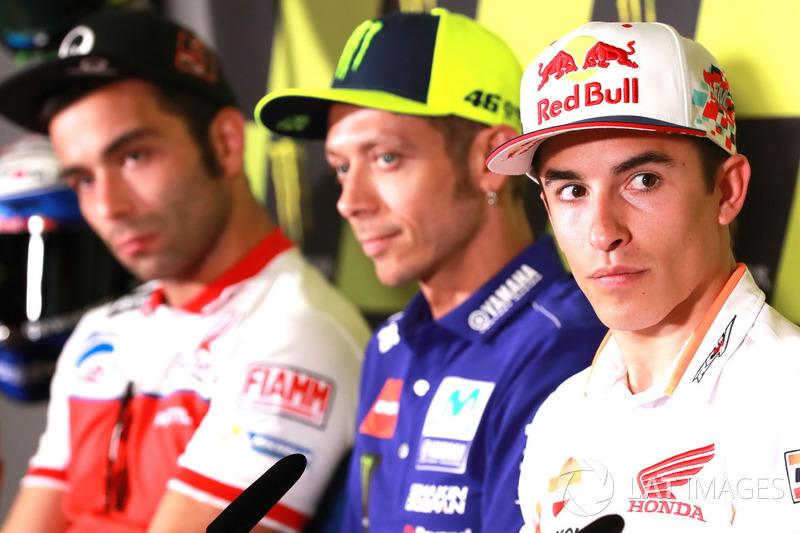 Danilo Petrucci, Pramac Racing, Valentino Rossi, Yamaha Factory Racing, Marc Marquez, Repsol Honda Team