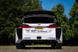 Vue détaillée de l'arrière de la Ford Fiesta WRC M-Sport