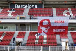 Tribuna con fanáticos de Robert Kubica, Williams