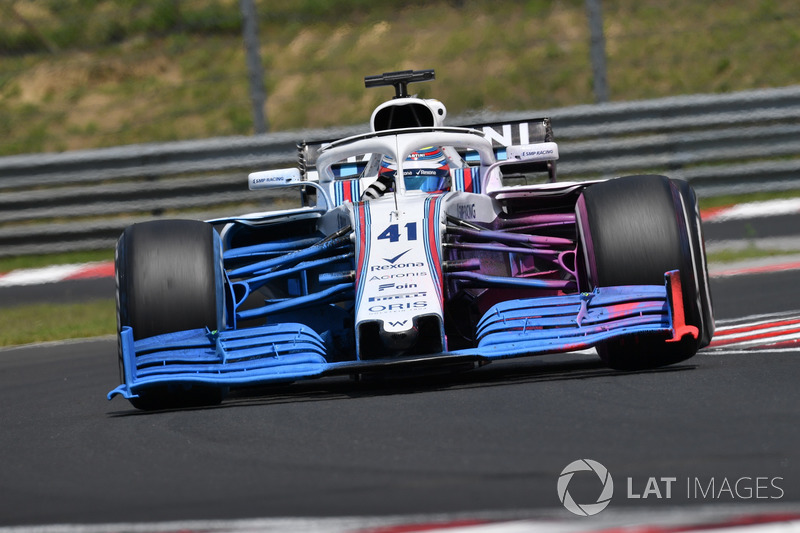 Oliver Rowland, Williams FW41 with aero paint