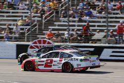 Brad Keselowski, Team Penske Ford, Joey Gase, Tommy Baldwin Racing Chevrolet