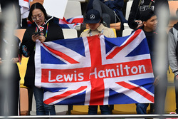 Lewis Hamilton, Mercedes-AMG F1 fans and flags