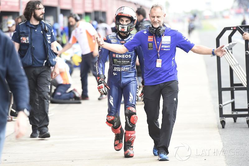 Maverick Viñales, Yamaha Factory Racing, Zeelenberg re start fiasco