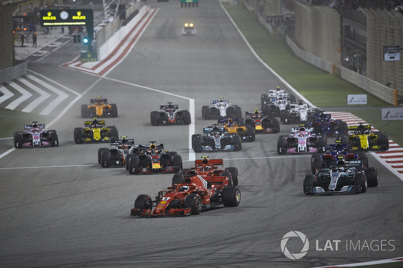 Start: Sebastian Vettel, Ferrari SF71H leads