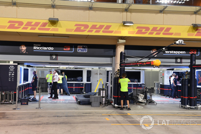 Empty Red Bull Racing garage