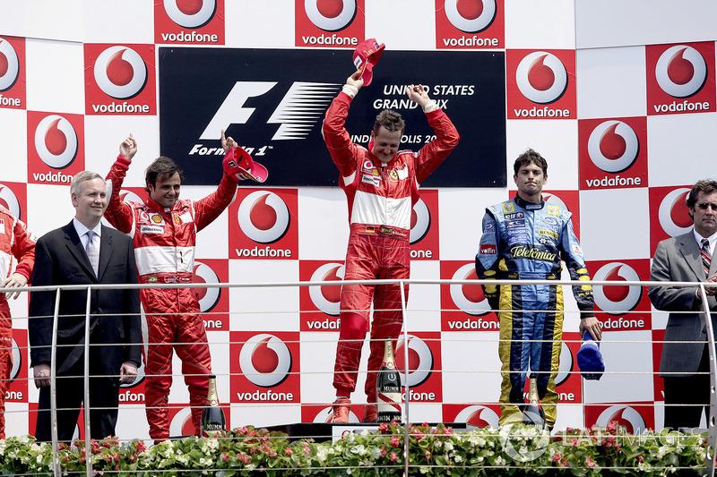 2006: 1. Michael Schumacher, 2. Felipe Massa, 3. Giancarlo Fisichella