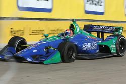 Alexander Rossi, Andretti Autosport Honda with a flat tire