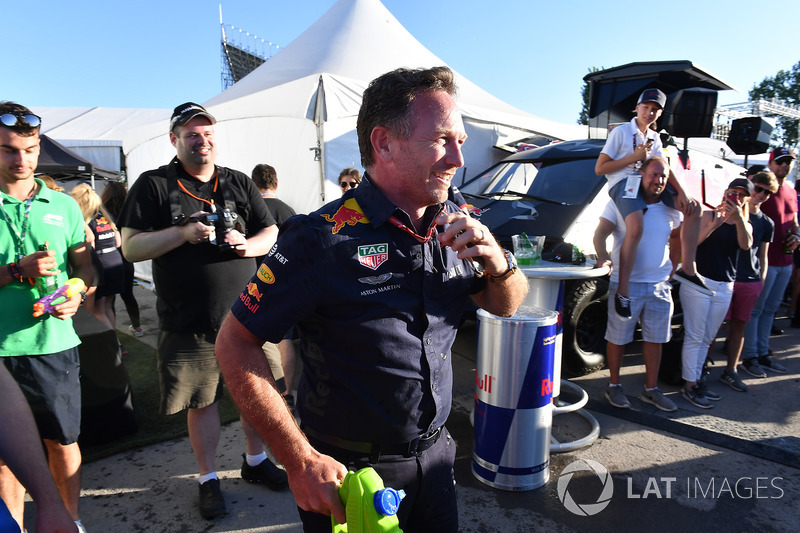 Christian Horner, Red Bull Racing Team Principal at the raft race